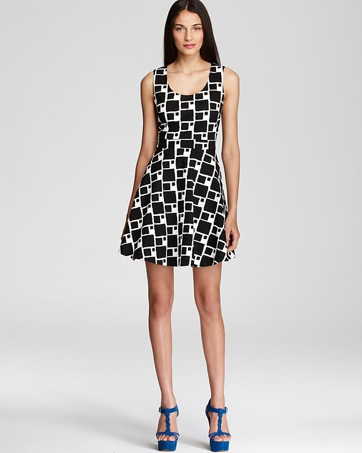 Shoshanna Printed Dress - Sabrina Flare