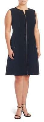 Lafayette 148 New York Plus Celinda Wool Knee-Length Dress