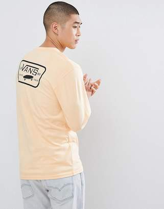 Vans Full Patch Long Sleeve T-Shirt With Back Print In Orange VA2XCMPE9
