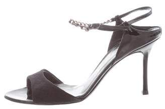 Chanel Chain-Link Ankle Strap Sandals