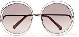 Chloé Carlina Round-frame Gold-tone Sunglasses