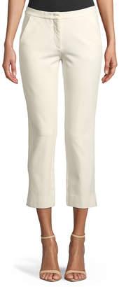 Derek Lam Drake Straight-Leg Cropped Trousers, Ivory