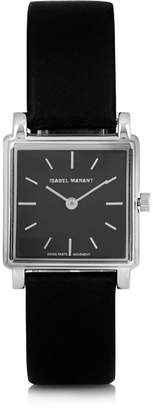 Isabel Marant Stainless Steel And Leather Watch - Black