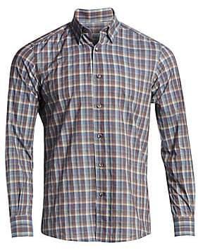 Ermenegildo Zegna Men's Cotton Plaid Sports Shirt