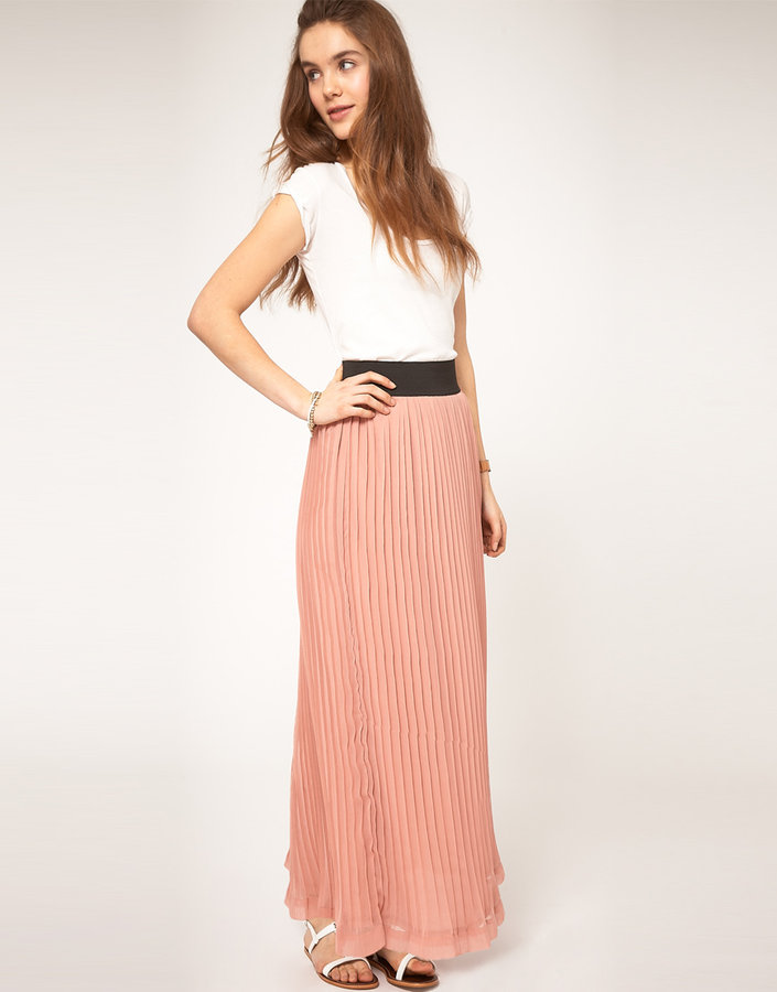 A|Wear Maxi Skirt With Pleats