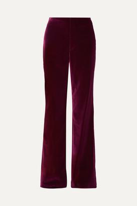 Alice + Olivia Lorinda Velvet Wide-leg Pants - Purple
