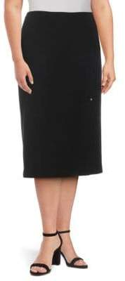 Lafayette 148 New York Lucina Wool Knee-Length Skirt