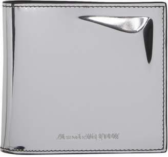 Alexander McQueen Silver Metallic Bifold Wallet
