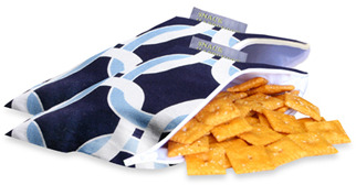 Bed Bath & Beyond Itzy Ritzy(TM) Snack Happened Mini(TM) Mini Reusable & Washable Snack Bags - Social Circle Blue