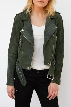 Blank NYC Real Suede Moto $198 thestylecure.com