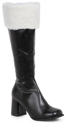 ELLIE SHOES Women's Black Gogo Boots with Faux Fur