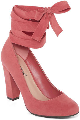 Bamboo Amuse Ankle Wrap Pump $50 thestylecure.com