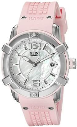 Elini Barokas Women's 'Spirit' Swiss Quartz Stainless Steel Casual Watch (Model: ELINI-20005-02-PKS)