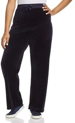 Juicy Couture Black Label Plus Black Label Original Flare Velour Pants - 100% Exclusive