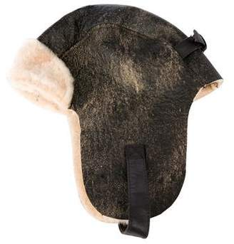 Crown Cap Shearling Trapper Hat w/ Tags