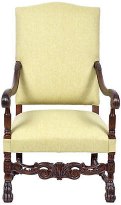 One Kings Lane Vintage Henry II Renaissance Revival Armchair