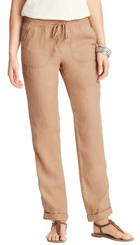 LOFT Tall Marisa Casual Roll Cuff Linen Pants