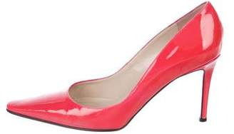 Christian Louboutin Square-Toe Patent Leather Pumps