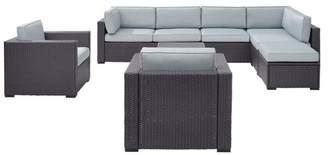 Crosley Biscayne 7-Piece Outdoor Wicker Seating Set