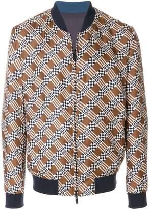 Fendi geometric print bomber jacket
