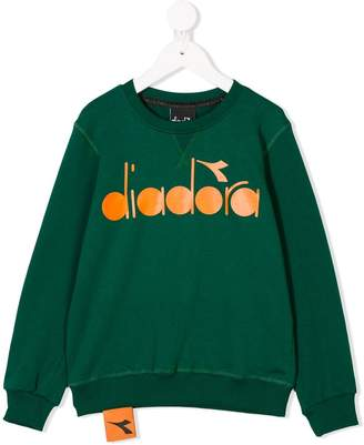 Diadora Junior logo printed sweatshirt