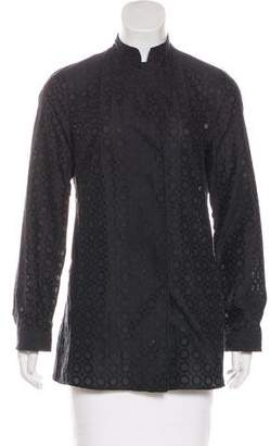 Akris Punto Embroidered Long Sleeve Jacket