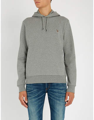 Paul Smith Zebra-embroidered cotton-jersey hoody