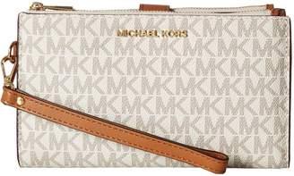 MICHAEL Michael Kors Adele Double-Zip Wristlet 7+ Wristlet Handbags