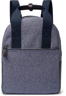 The Workers Club - Leather-Trimmed Canvas Backpack - Men - Blue