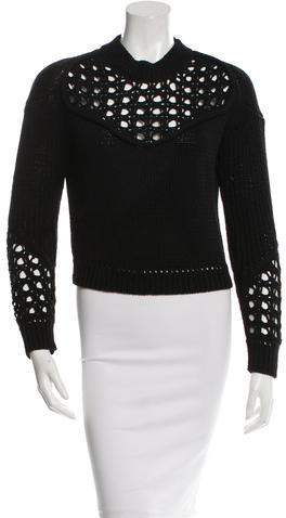 3.1 Phillip Lim Cropped Knit Sweater