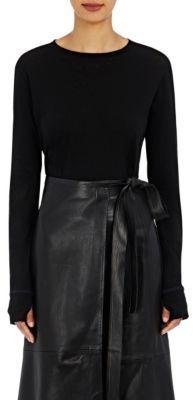 Helmut Lang Women's Long-Sleeve T-Shirt-BLACK $175 thestylecure.com