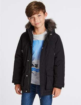 Marks and Spencer Faux Fur Parka Coat (3-16 Years)