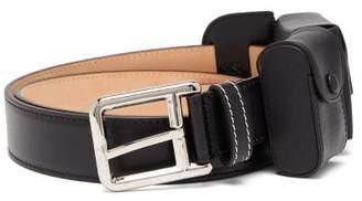 Loewe Pouch Leather Belt - Mens - Black
