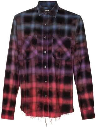 Amiri check dyed cotton shirt
