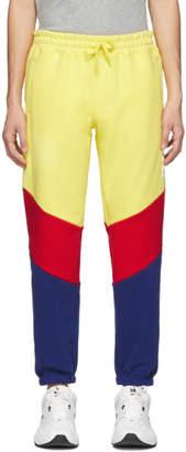 Leon Aime Dore Yellow Colorblocked Logo Lounge Pants