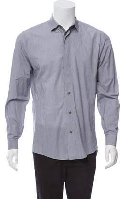 Maison Margiela Grid Print Button-Up Shirt