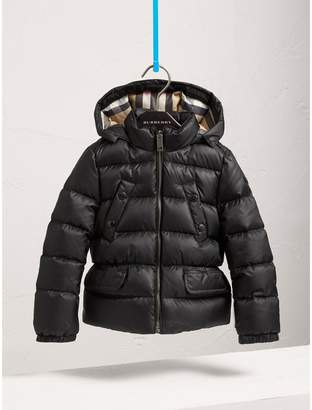 Burberry Shower-resistant Hooded Puffer Jacket