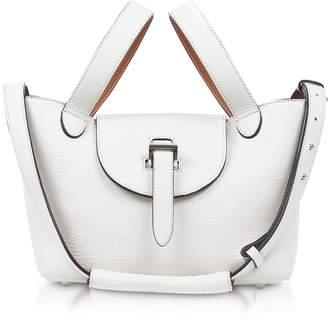 Meli-Melo White/Tan Thela Mini Tote Bag