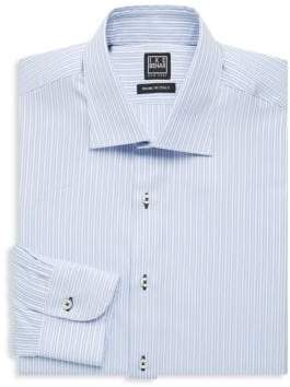 Ike Behar Regular-Fit Stripe Cotton Dress Shirt