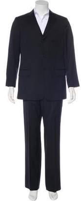 Valentino Striped Virgin Wool Suit