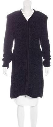 Giorgio Armani Wool-Blend Zip Cardigan