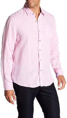 Report Collection Long Sleeve Slim Fit Linen Shirt