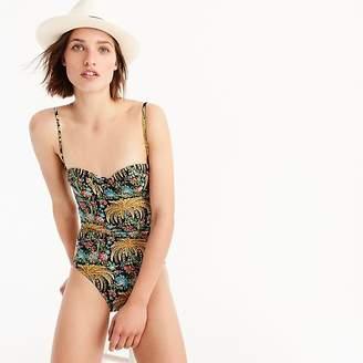 J.Crew Underwire one-piece swimsuit in dryad palms print