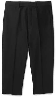 Rick Owens Cropped Tapered Woven Trousers - Men - Black