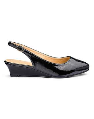 20f0d0658130 Jd Williams Slingback Low Wedge Shoes E Fit