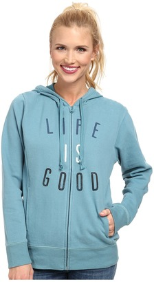Life is good Go-To Zip Hoodie $50 thestylecure.com