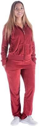 DAY Birger et Mikkelsen Tanbridge Mother's Sale! - Women's Soft Active 2 Piece Velour Hoodie & Pants Tracksuit Set