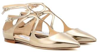 Jimmy Choo Lancer leather ballerinas