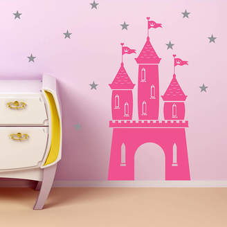 SnuggleDust Studios Magical Fairy Castle And Stars Wall Sticker