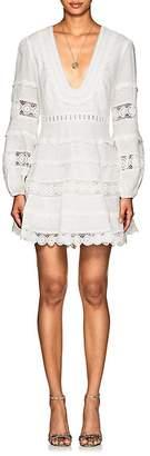 Zimmermann Women's Castile Crochet-Inset Linen Minidress